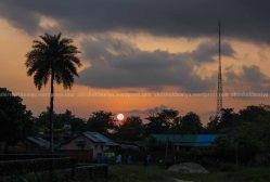 the sunset view from rajdevi tole